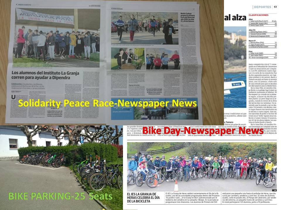 BE NEWS in NEWSPAPER and BIKE PARKING